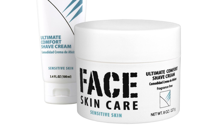 face skin care shaving cream